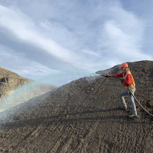 Mountainside Earthworks Erosion Stop